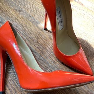 Jimmy Choo Orange patent leather